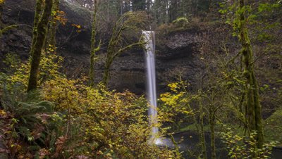 Time Lapse of the Upper South Falls at Silver Falls State Park, Oregon