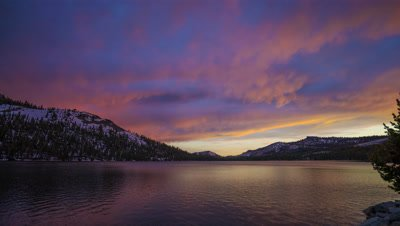 Time Lapse of Tenaya Lake in Yosemite National Park