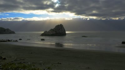 Scenic view of Hunter Rock off the California coast south of Brookings, Oregon