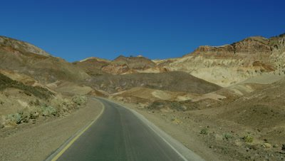 Driving along Artist's Drive in Death Valley National Park