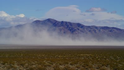 Sand storm by the entrance to Death Valley