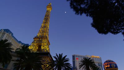 Effel Tower in front of the Paris Hotel in Las Vegas