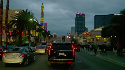 Driving on the Las Vegas Strip