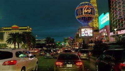 Driving on the Las Vegas Strip