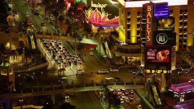 Traffic on the Las Vegas Strip near the Bellagio Hotel
