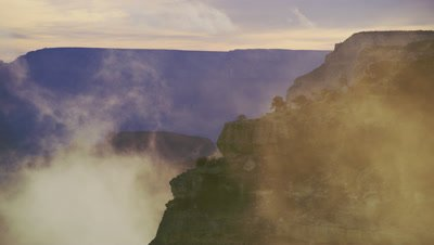 Scenic view of the Grand Canyon's South Rim by Hopi Point in the morning
