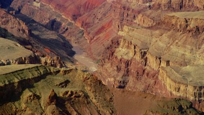 Scenic view of the Grand Canyon and Colorado River at Desert View