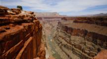 Time Lapse Grand Canyon, Shadows Move Across Tuweep Or Toroweap