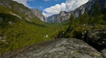 motion-controlled time lapse, view of Bridalveil Falls, Yosemite