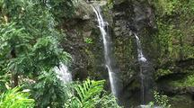 Three Bears Falls, Upper Waikani Falls, Hana Highway, Maui