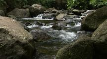 Creek Runs Over Boulders, Iao Valley, Maui