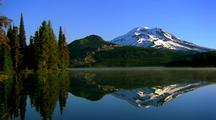 Reflection Of South Sister Mountain On Sparks Lake, Oregon