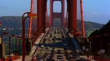 Cars Crossing Over Golden Gate Bridge