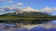 Mount Bachelor Reflected In Lake