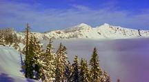 Time Lapse Of Fog Over Crater Lake, Oregon