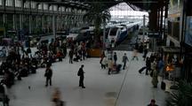Time Lapse Of Paris Train Station