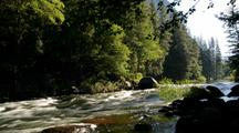 Time Lapse Of River At Yosemite National Park