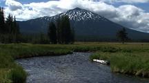 Mt. Bachelor And Creek
