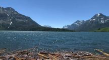 Scenic View Of Waterton Lake