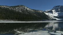Ice And Snow At Cameron Lake, Waterton Lakes National Park