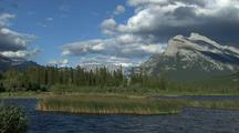 Scenic View Of Vermilion Lake And Mount Rundle, Banff National Park