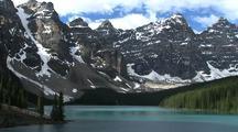 Mountain Peaks Above Lake Moraine, Banff National Park