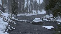 Yellowstone River During Snowfall, Yellowstone National Park