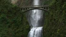 Waterfall And Bridge, Columbia River Gorge