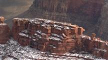 Red Rock With Snow, Grand Canyon National Park