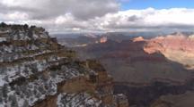 Snowy Rim, View Across Canyon, Grand Canyon National Park