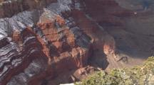 Canyon Rim Dusted With Snow, Grand Canyon National Park