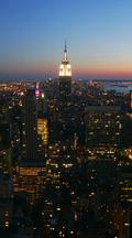 Vertical Time Lapse Manhattan Skyline With Empire State Building At Night