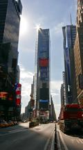 Vertical Time Lapse, Cars At Times Square New York