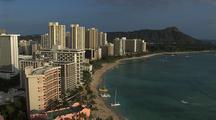 Overlook Of Oahu Shore And Diamond Head, Hawaii