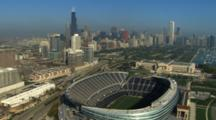 Aerial Of Chicago, New Soldier Field Stadium
