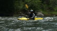 White Water Kayaking In Rapids