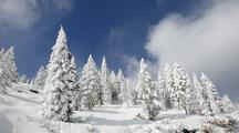 Time Lapse Winter At Mt. Ashland With Fresh Snow