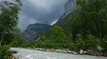 Time Lapse Mountain Stream, Interlaken, Switzerland