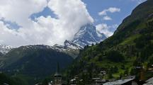Time Lapse  Zermatt, Switzerland And Matterhorn