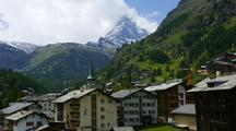 Time Lapse, Matterhorn From Zermatt, Switzerland