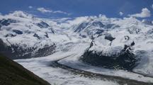 Time Lapse, Alps With Glacier Near Zermatt, Switzerland