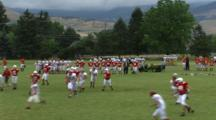 Team Playing Southern Oregon University Football Stadium