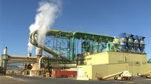 Smoke, Steam At Lumber Mill