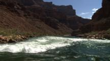 Travel Down River, Over Rapids, In Grand Canyon