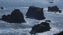 Rocky Outcroppings On Oregon Coast