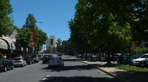 Driving Through Small Town, Ashland, Oregon
