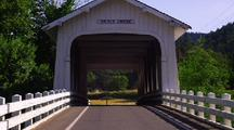 Covered Bridge Over Grave Creek Oregon