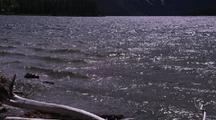 Two Medicine Lake, Waves Lapping On Shore