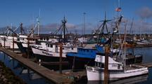 Fishing Boats In Small Harbor