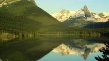 Mountain Reflection On Still Lake